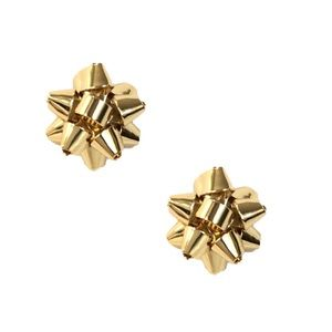 KATE SPADE • Gold Bourgeois Bow Earrings